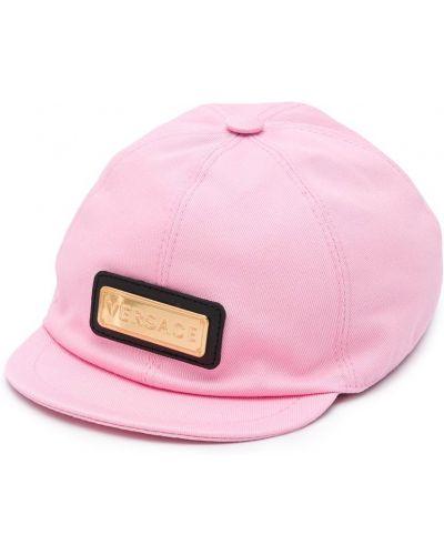 Хлопковая розовая кепка Young Versace