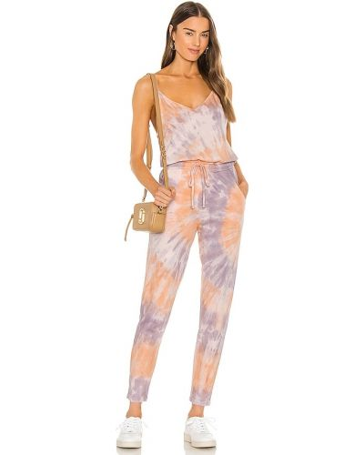 Сиреневый трикотажный комбинезон с карманами Wildfox Couture