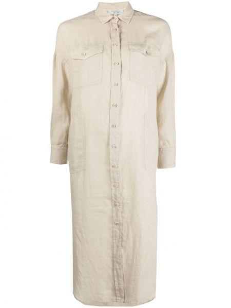 Платье макси с воротником на пуговицах Antonelli