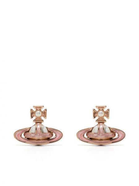Серьги с жемчугом - розовые Vivienne Westwood