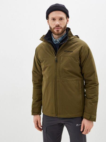 Утепленная куртка демисезонная зеленая Columbia