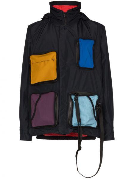 Нейлоновая черная куртка с капюшоном на пуговицах с карманами Byborre