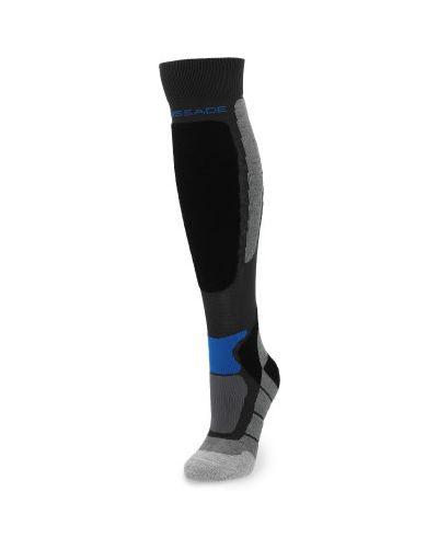 Компрессионные черные шерстяные спортивные носки Glissade