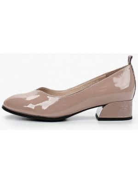 Кожаные туфли бежевый лаковые Covani