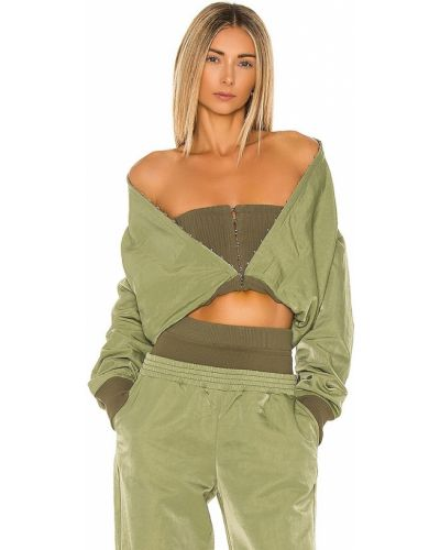 Нейлоновая зеленая куртка с манжетами Dion Lee