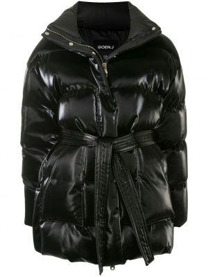 Черная куртка на молнии с воротником оверсайз Goen.j