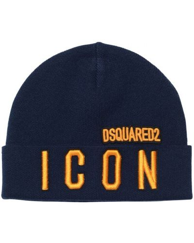 Wełniany kapelusz z haftem Dsquared2