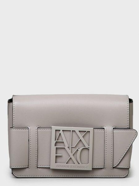 Кожаная сумка - серая Armani Exchange