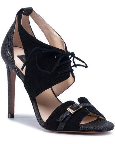 Czarny sandały Pinko
