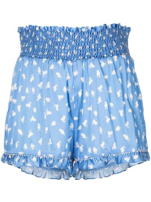 Шелковые шорты - синие Morgan Lane