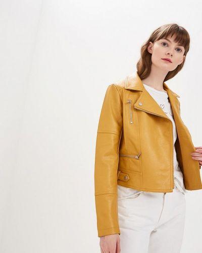 Кожаная куртка - желтая Oasis