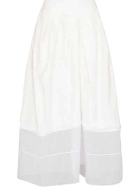 Шелковая юбка макси - белая Rosie Assoulin