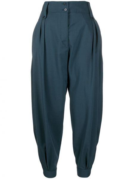 Синие зауженные брюки с карманами Paul Smith