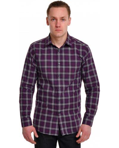 Фиолетовая рубашка хлопковая Ermenegildo Zegna
