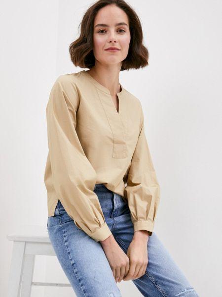 Бежевая блузка с длинным рукавом Marks & Spencer