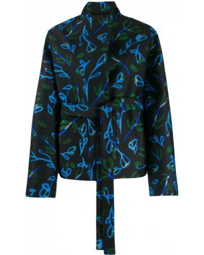 Черная длинная куртка Christian Wijnants