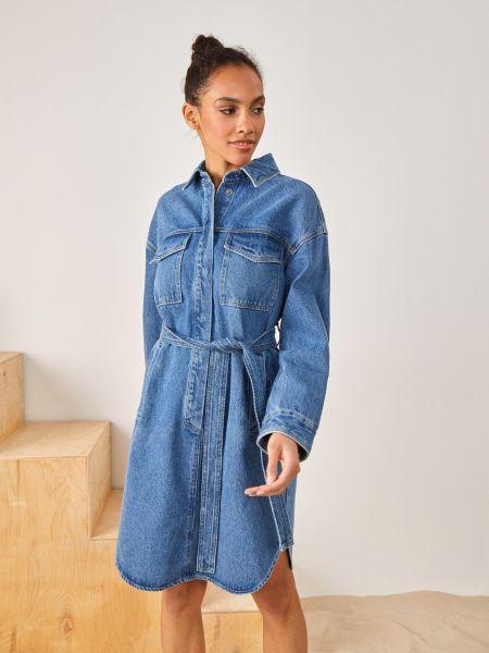 Платье платье-рубашка с карманами 12storeez