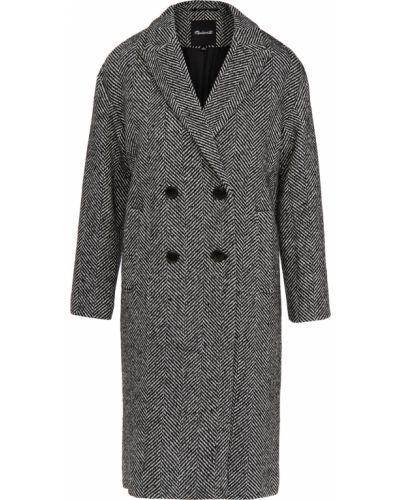 Шерстяное пальто двубортное с карманами Madewell