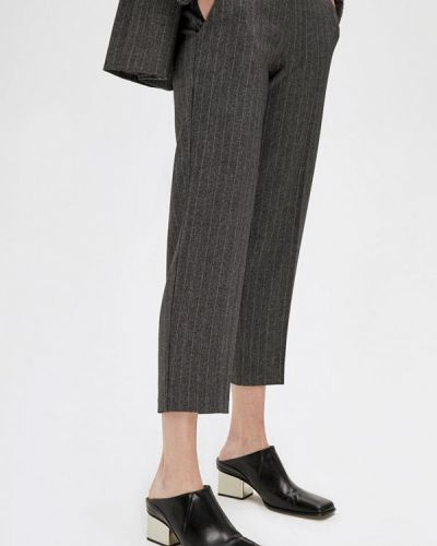 Прямые серые брюки Lime