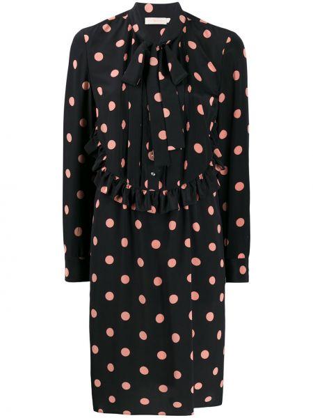 Платье миди в горошек на пуговицах Tory Burch