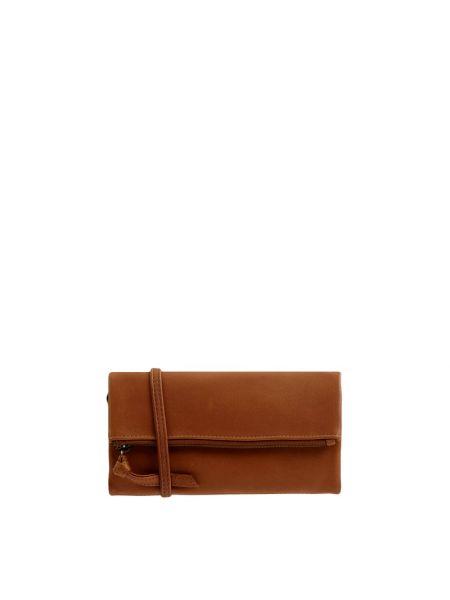 Brązowy portfel skórzany z paskiem Treats