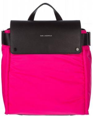 Рюкзак текстильный с откидным клапаном Karl Lagerfeld