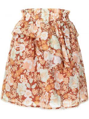 Хлопковая оранжевая юбка мини с оборками We Are Kindred