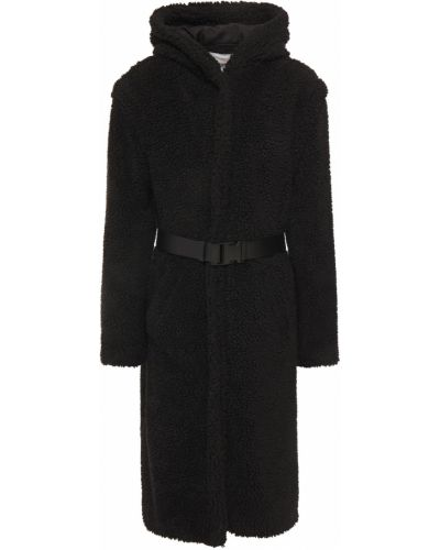 Полупальто с капюшоном - черное Ba&sh