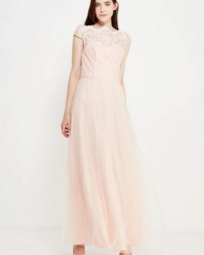 Розовое платье макси Chi Chi London