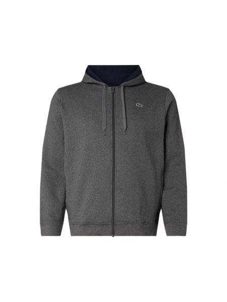 Sweter z zamkiem błyskawicznym z paskami Lacoste
