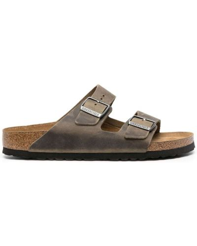 Sandały skórzane - zielone Birkenstock