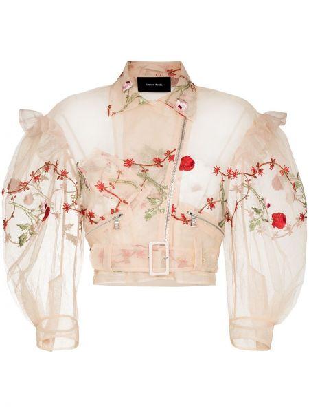 Розовая куртка с воротником Simone Rocha