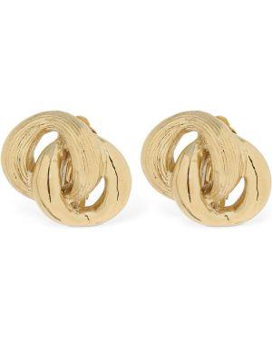 Złote kolczyki sztyfty pozłacane Philippe Audibert