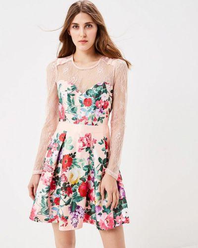 Вечернее розовое вечернее платье Soky & Soka