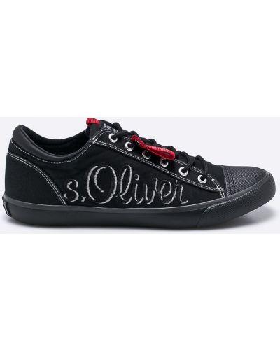 Черные кеды S.oliver