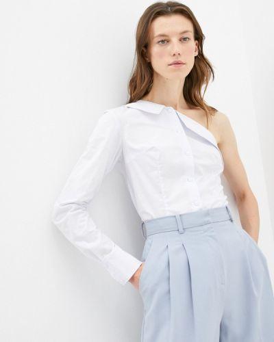 Блузка с открытыми плечами - белая M,a,k You Are Beautiful