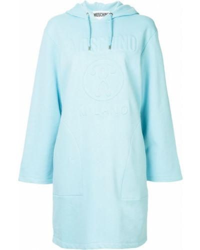 Платье хлопковое синее Moschino