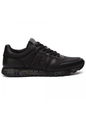 Черные кроссовки на шнуровке Premiata