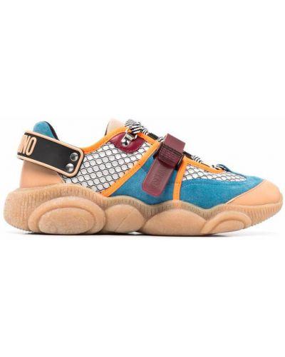 Sneakersy - pomarańczowe Moschino