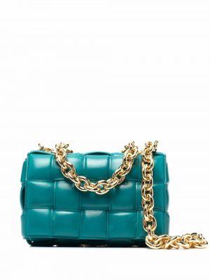 Niebieski łańcuszek skórzany Bottega Veneta