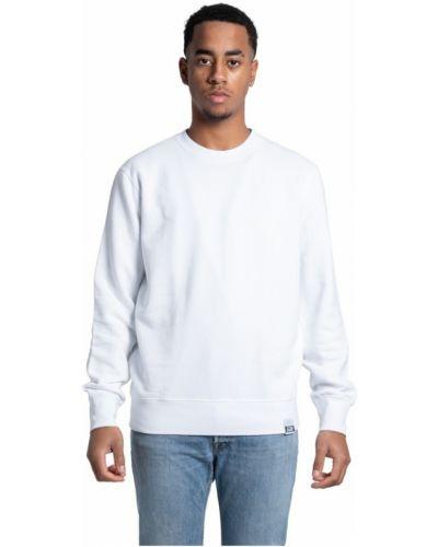 Biała bluza z długimi rękawami Golden Goose