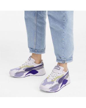 Замшевые фиолетовые кроссовки для бега сетчатые с сеткой Puma