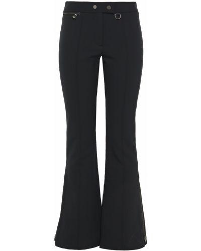 Czarne spodnie z nylonu rozkloszowane Erin Snow