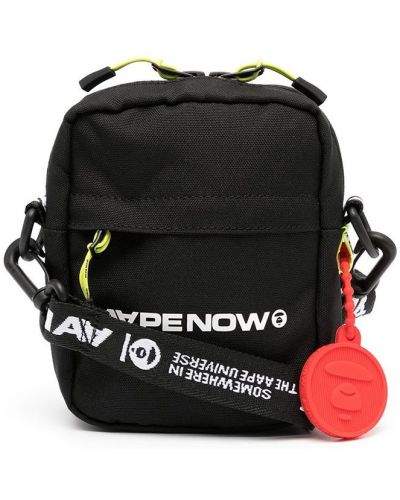 Черная сумка с логотипом Aape By A Bathing Ape