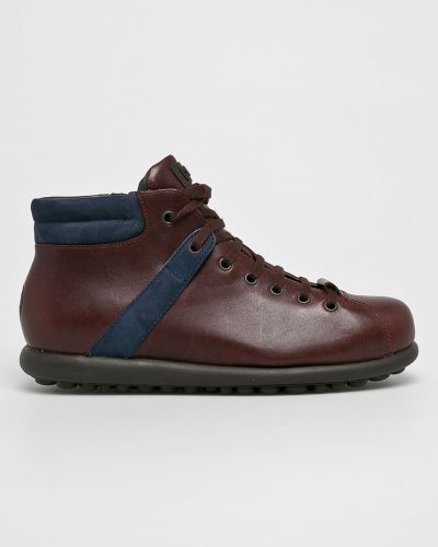 Кожаные ботинки на шнуровке высокие Camper