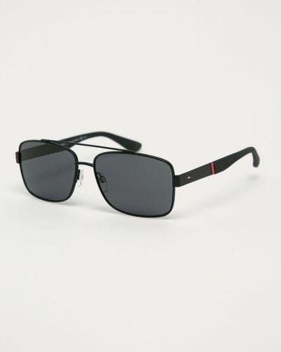 Czarne okulary Tommy Hilfiger