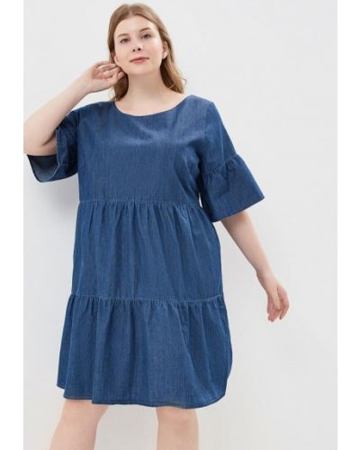 Синее платье джинсовое Junarose