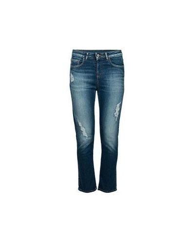 Синие прямые джинсы Armani Jeans