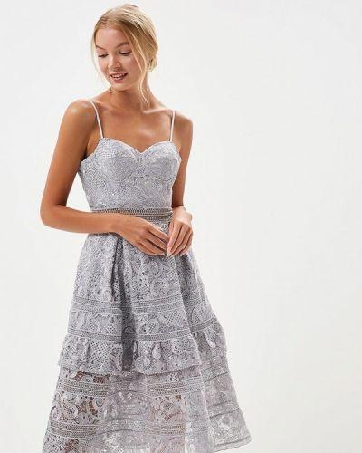 Вечернее платье серое X'zotic
