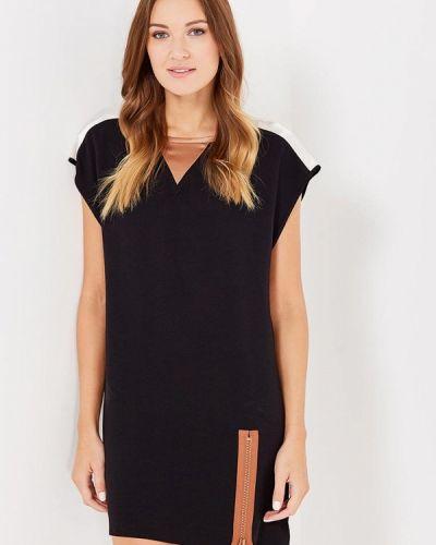 Платье осеннее черное Sisley